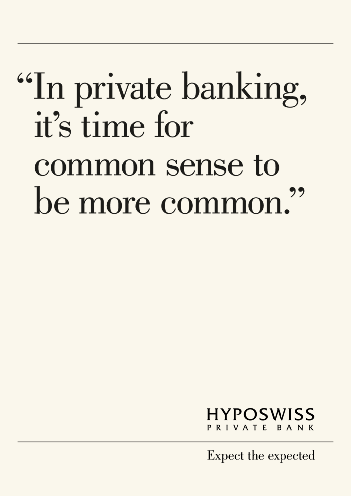 (English) Hyposwiss declares the essence of banking