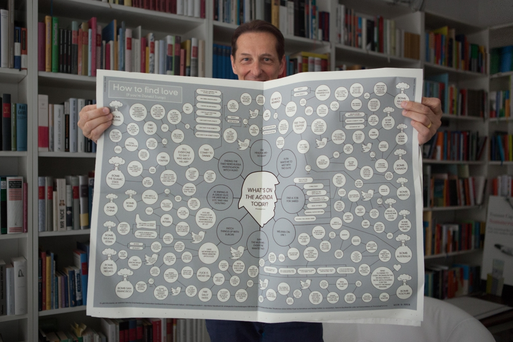 Peter Haag, Kein&Aber with the FAZ advert for